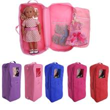 Doll Travel Case Koffer Opbergtas Draagtas Voor 18 Inch Poppen Vs Girl(China)