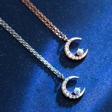 Очаровательное ожерелье с подвеской женское Луной цветной опал