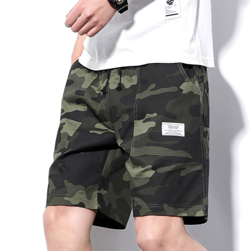 New Pattern Summer Shorts Men Camouflage Causal Short Pants With Pocket Mens Clothing Elastic Drawstring Shorts 2020 Newest 5xl