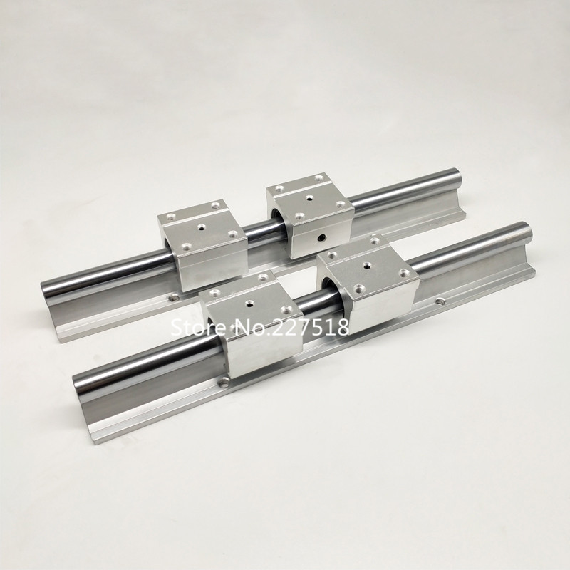 4 pcs SBR16UU 2 X SBR16-350mm 16MM FULLY SUPPORTED LINEAR RAIL SHAFT