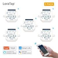 Tuya Smart Leben Wifi Schalter Relais Modul 1 Gang Arbeitet mit Google Home Echo Alexa DIY Automatisierung Timer Licht Fernbedienung control