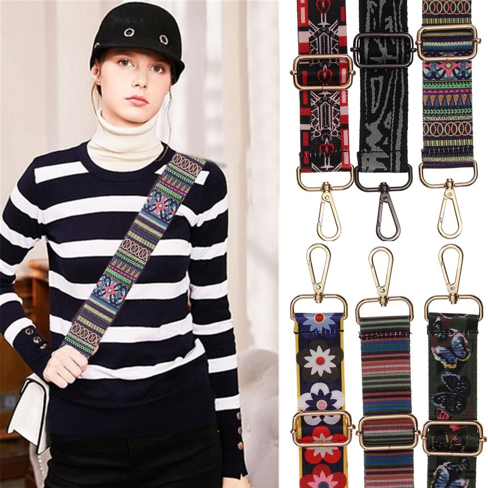 Colored Nylon Bags Belt Straps For Bags Women Rainbow Adjustable Shoulder Hanger Handbag Strap Decorative Chain Bag Accessories