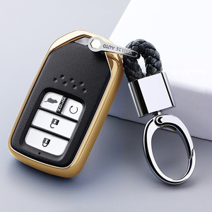 Image 5 - For Honda For Fit For Civic For HR V CRV Odyssey Accord 2013 2017 TPU Black Car Styling Remote Smart Key Cover Fob Case Shell