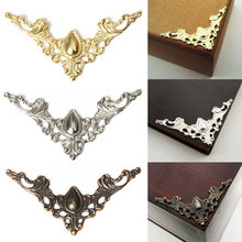 12PCS New Box Book Scrapbook Album Corner Decorative Protector Cover For Antique Brass Jewelry Box Protector Metal Corner(China)