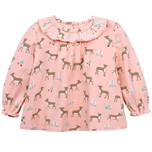 цена Baby Suits Children Clothes Cotton Little Girl Suits Tops Beer Blouse Shirt Dress Kids Clothing Clothes Princess Pink онлайн в 2017 году
