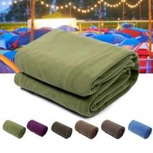 Сверхлегкий спальный мешок флисовый спальный мешок портативный Открытый спальный мешок Кемпинг путешествия теплый лайнер Кемпинг Аксессуары