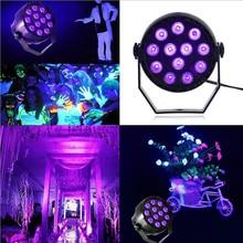 цена на Purple Light Par Light LED Stage Light Effect Stroboscope DMX512 DJ Disco Light KTV Bar Party LED Beam Projector Spotlight