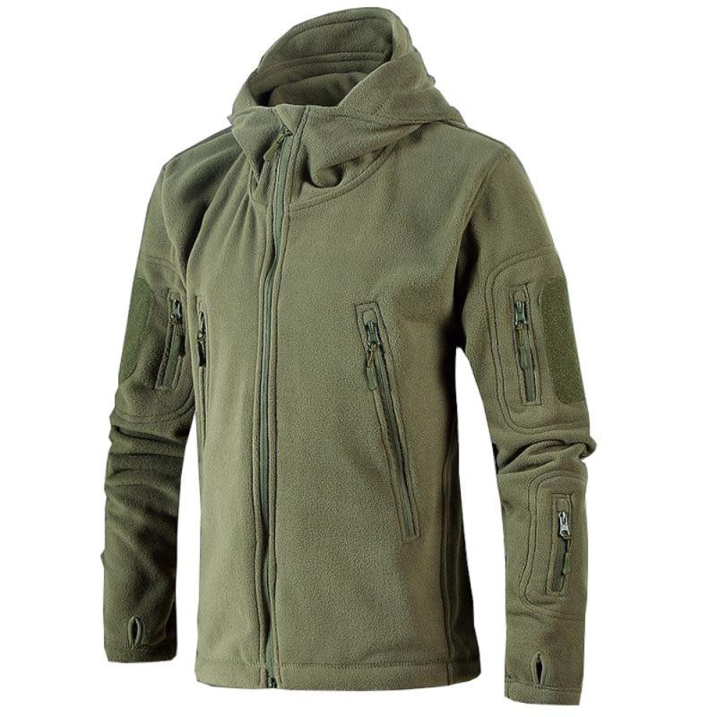 Men Autumn Winter Jacket Soft Shell Fleece Antistatic sweatproof quick drying windproof Thermal Hiking Hoodie Jackets|Hiking Jackets| |  - title=