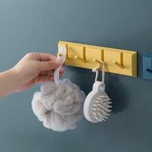 Banheiro único gancho forte punch-free casa multi-função gancho casaco chapéu rack de chave cabide cozinha banheiro acessório organizador