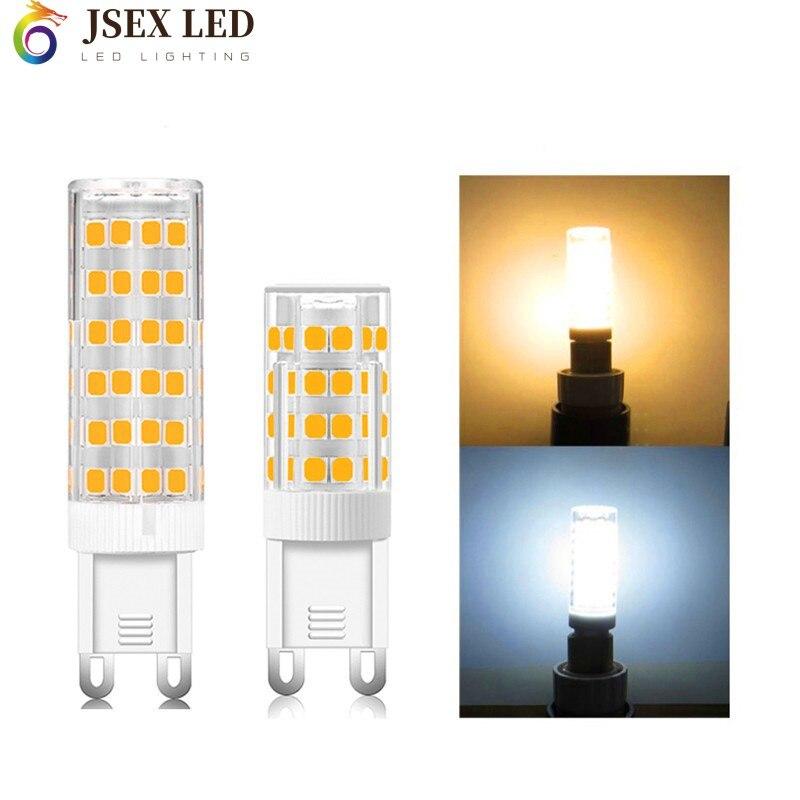 Супер яркий G9 светодиодный светильник AC220V, 5 Вт, 7 Вт, 9 Вт, 12 Вт, 15 Вт, 18 Вт, Керамика SMD2835 светодиодный лампа Теплый/Холодный белый точечный свет...