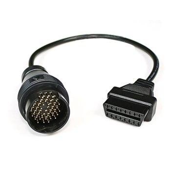 Câble de connecteur de diagnostic de voiture 38Pin pour BENZ 38 broches mâle à 16 broches femelle OBD2 OBDII connecteur adaptateur outil de diagnostic