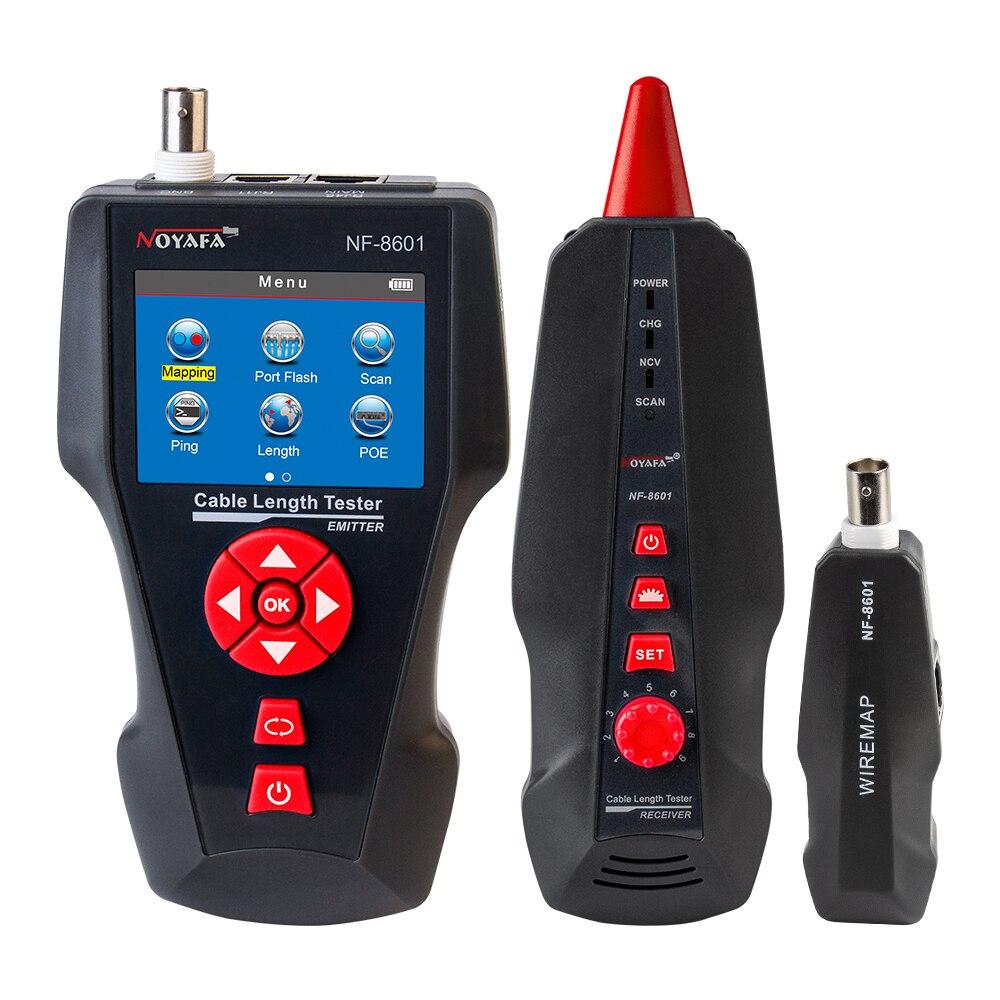 Noyafa новый дизайн NF-8601 POE пинг ЖК-дисплей кабель Длина Тесты для RJ11 RJ45 BNC сетевой кабель Cat 7 Тесты er провода проверить