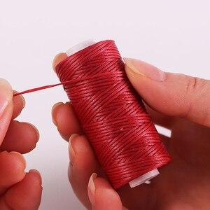 50M 150D 1mm Hand Nähen Gewachste Gewinde Flach Gewachste Nähen Linie dicke Gewachste Gewinde für Leder gewachste Schnur für Leder Handwerk