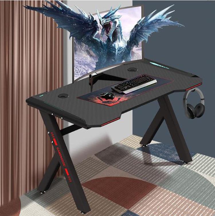 Desktop Computer Desk Ergonomic Desk Writing Desk Simple Desk Home Internet Cafe Cool Gaming Table 120*60cm