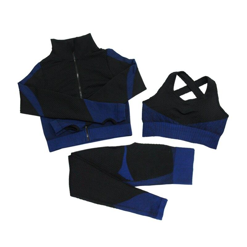 3pcs Black Blue
