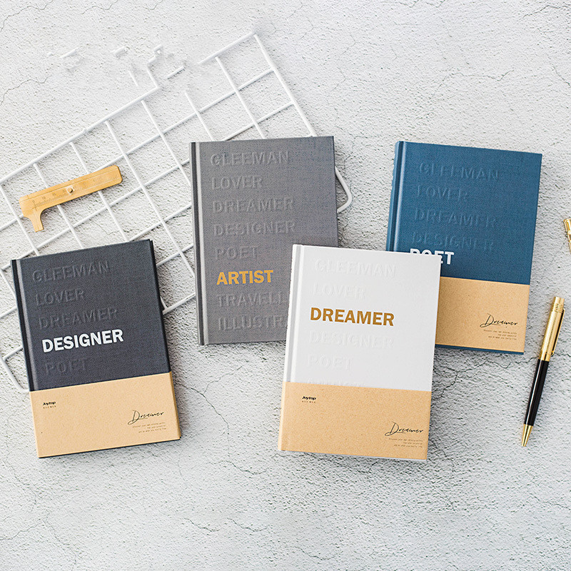 """Dreamer"" Hard Cover Diary Beautiful Business Notebook Grid Lined Blank Papers Notepad Journal Memo Student Stationery Gift"
