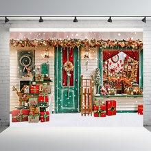 Mehofond Рождественский магазин фон с изображением деревянной