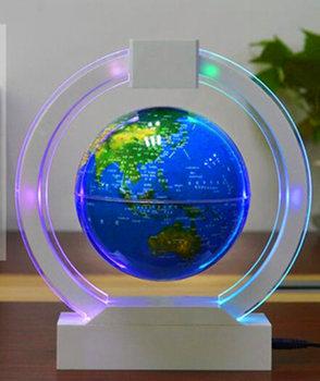 Round Home Decor elektroniczna lewitacja magnetyczna pływające kule astronomia kulki dekoracyjne idealny prezent dla każdego domu lub biura tanie i dobre opinie Z tworzywa sztucznego Round Levitating Globes White Levitating Globes 26x24x5 5CM Diameter 14 5CM English LED Lights DC Output 12V 1000mA