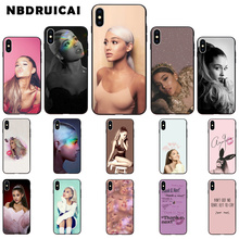 NBDRUICAI Ariana Grande TPU Soft Silicone Phone Case Cover for iPhone 11 pro XS MAX 8 7 6 6S Plus X 5 5S SE XR case webbedepp jack skellington silicone soft case for iphone 5 se 5s 6 6s plus 7 8 11 pro x xs max xr