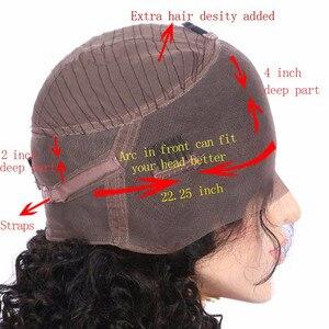 Image 5 - Kgbl encaracolado 360 ombre frente do laço peruca de cabelo humano com cabelo do bebê 250 densidade 8 density 24 brazilian relação média brasileira não remy para preto