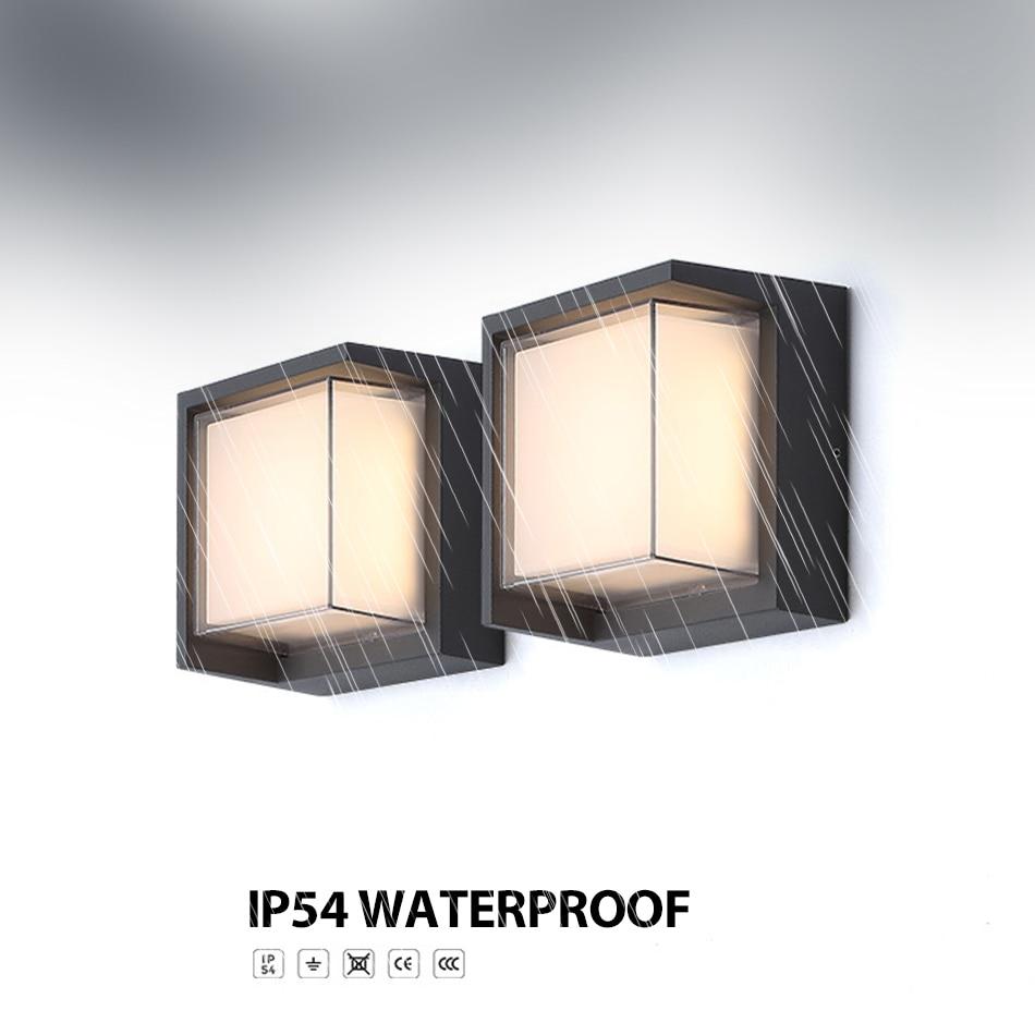 12 w led ao ar livre a prova dwaterproof agua ip varanda luz moderna lampada de