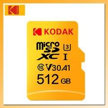 KODAK Tarjeta de memoria 32GB 64GB 128GB 256GB 512GB U3 Tarjeta Micro SD de 16GB U1 Tarjeta de memoria TF Tarjeta Clase 10 Tarjeta de memoria Flash, SD