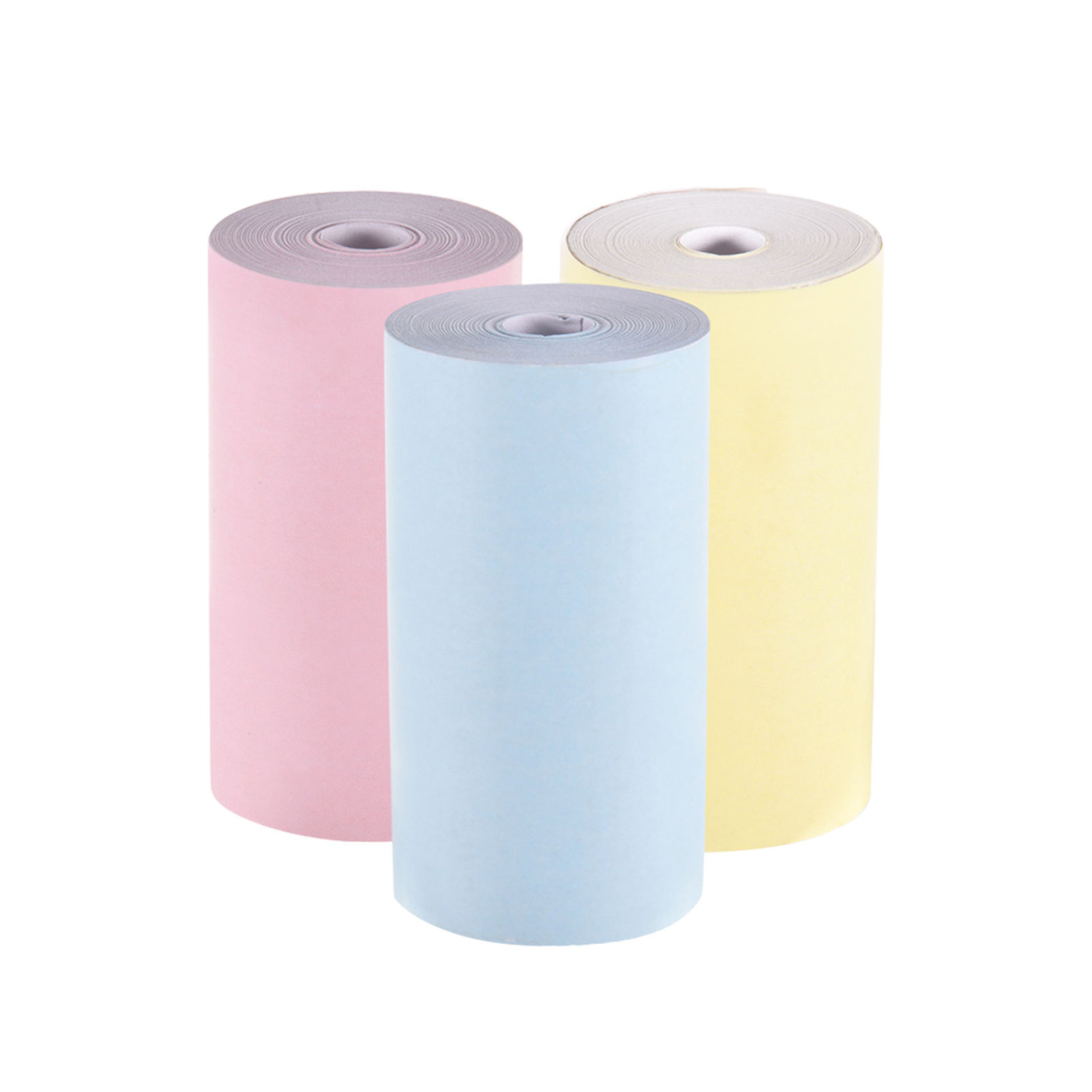 3colors/set Small 57x30mm Solid Portable Photo Printer Banks Printing Multifunction Hotel Smooth Mini Thermal Paper Supermarket