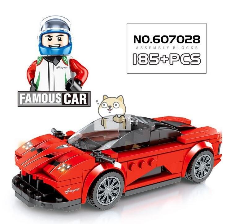 Детские сборные игрушки знаменитый автомобиль супер бегущий гоночный маленькие частицы Волшебные блоки для сборки конструктор-головоломка - Цвет: 028