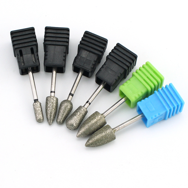 Diamond Milling Cutters Electric Manicure Burrs Nail Drills Bit Rotary Pedicure Files Cuticle Clean Bits Tools Accessories 1