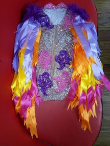 Image 3 - Комбинезон с бахромой Женский, разные цвета, для празднования дня рождения, бара, певицы, танцев