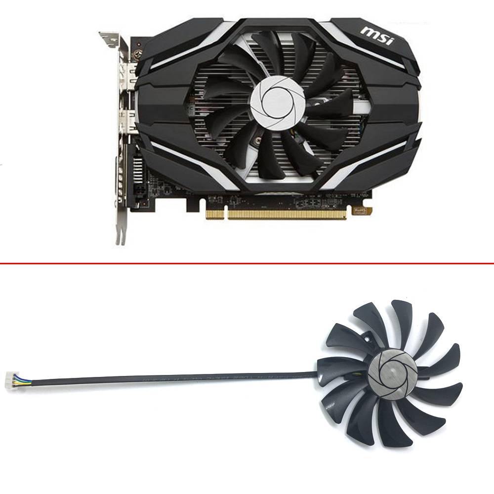 HA9010H12F-Z RX 550 RX 460 2G GPU Alternative Cooler Fan For MSI RX560-AERO-ITX RX550-AERO-ITX Grahics Card Cooling Replacemen image