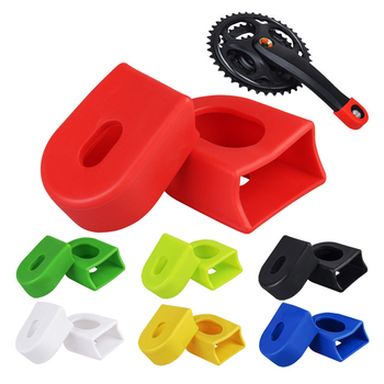 2pcs Silicon Bicycle Crank Arm Boots Protectors Bike  Crank set Protective Sleeve Cover Parts Crank Protection For Sram bike