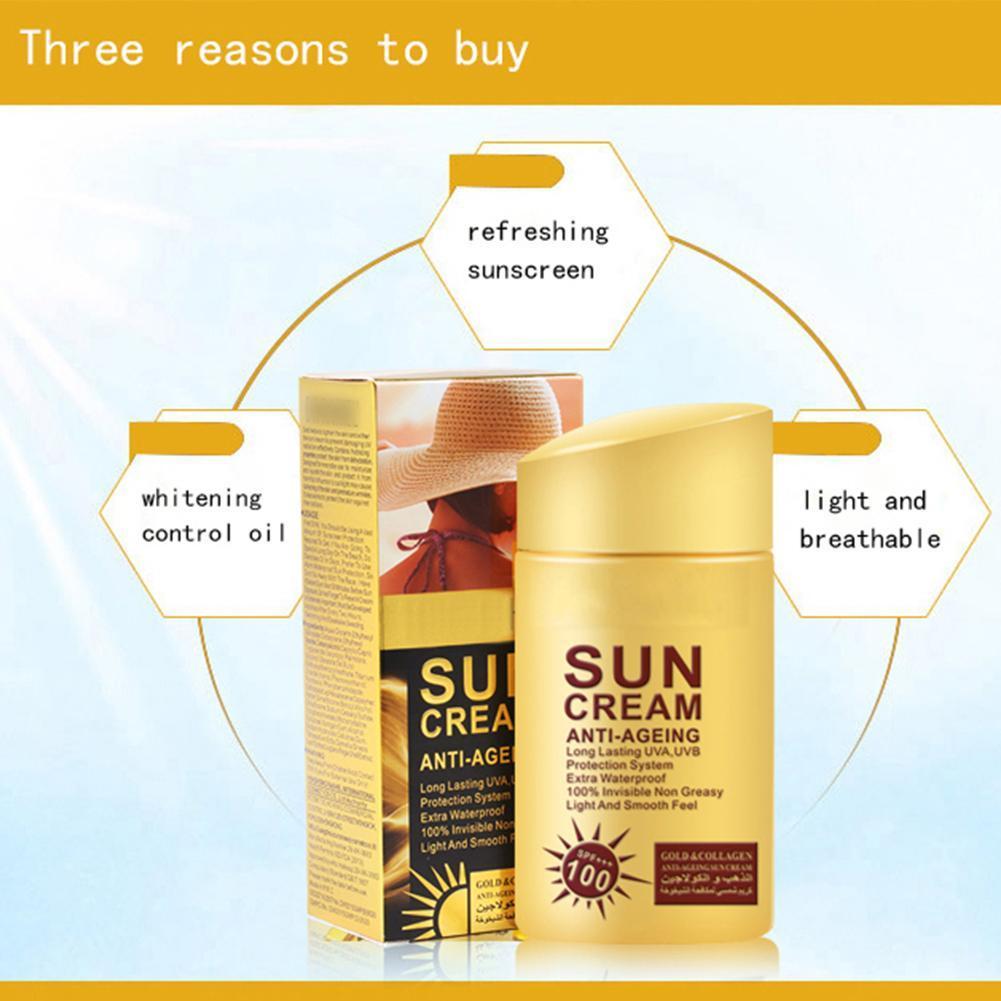 SPF 100 Face Body Sunscreen Whitening Sun Cream Sunblock Skin Protective Cream Anti-Aging Oil-control Moisturizing