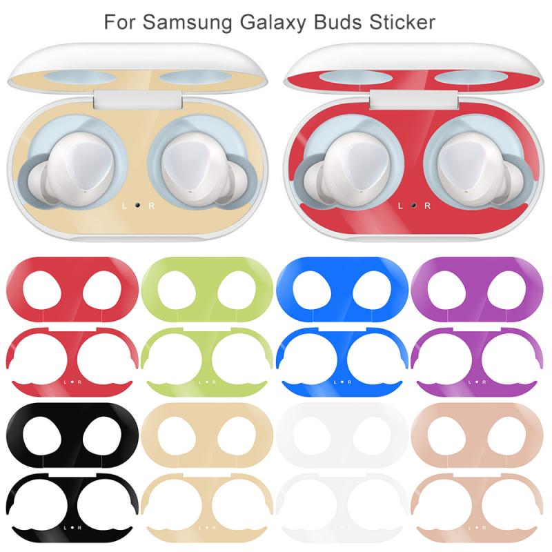 Metal Protective Film Suitable For Samsung Galaxy Buds Plating Metal Dust Cover Monochrome Film