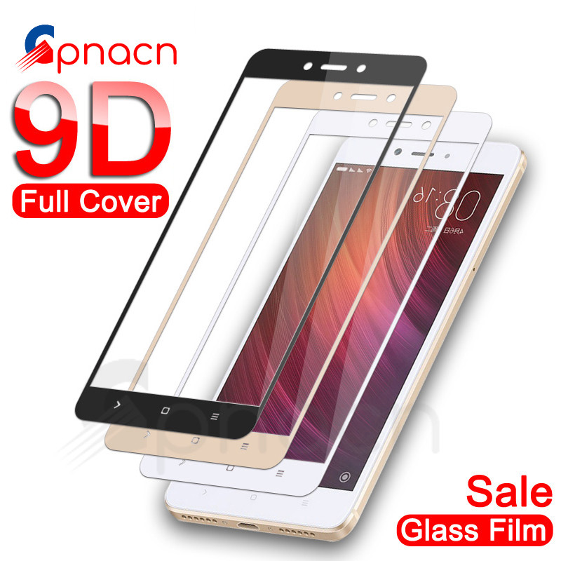 <font><b>9D</b></font> Protective Glass For <font><b>Xiaomi</b></font> <font><b>Redmi</b></font> Note 4 <font><b>4X</b></font> 5 5A Pro Screen Protector For <font><b>Redmi</b></font> 5 Plus S2 <font><b>4X</b></font> 5A Tempered Glass Film Case image