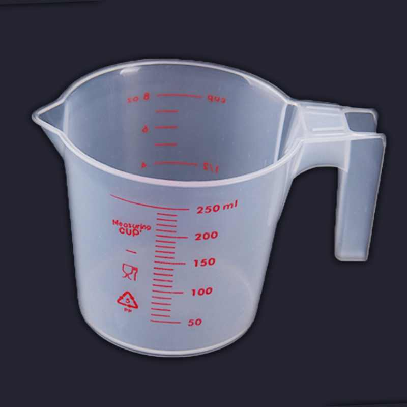 250ml Transparent Plastic Liquid Measuring Cup With Handle Kitchen Measure Tool