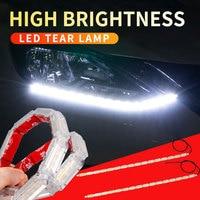 Luces de circulación diurna Led superbrillantes, a prueba de agua, flexible, DRL, señal intermitente tipo cinta, faro automático, tiras de luz, 12v