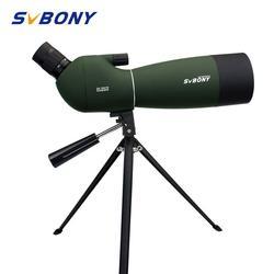 SVBONY SV28 50/60/70mm 3 Types Spotting Scope Waterproof Zoom Telescope +Tripod Soft Case for Birdwatching Target Archery F9308Z