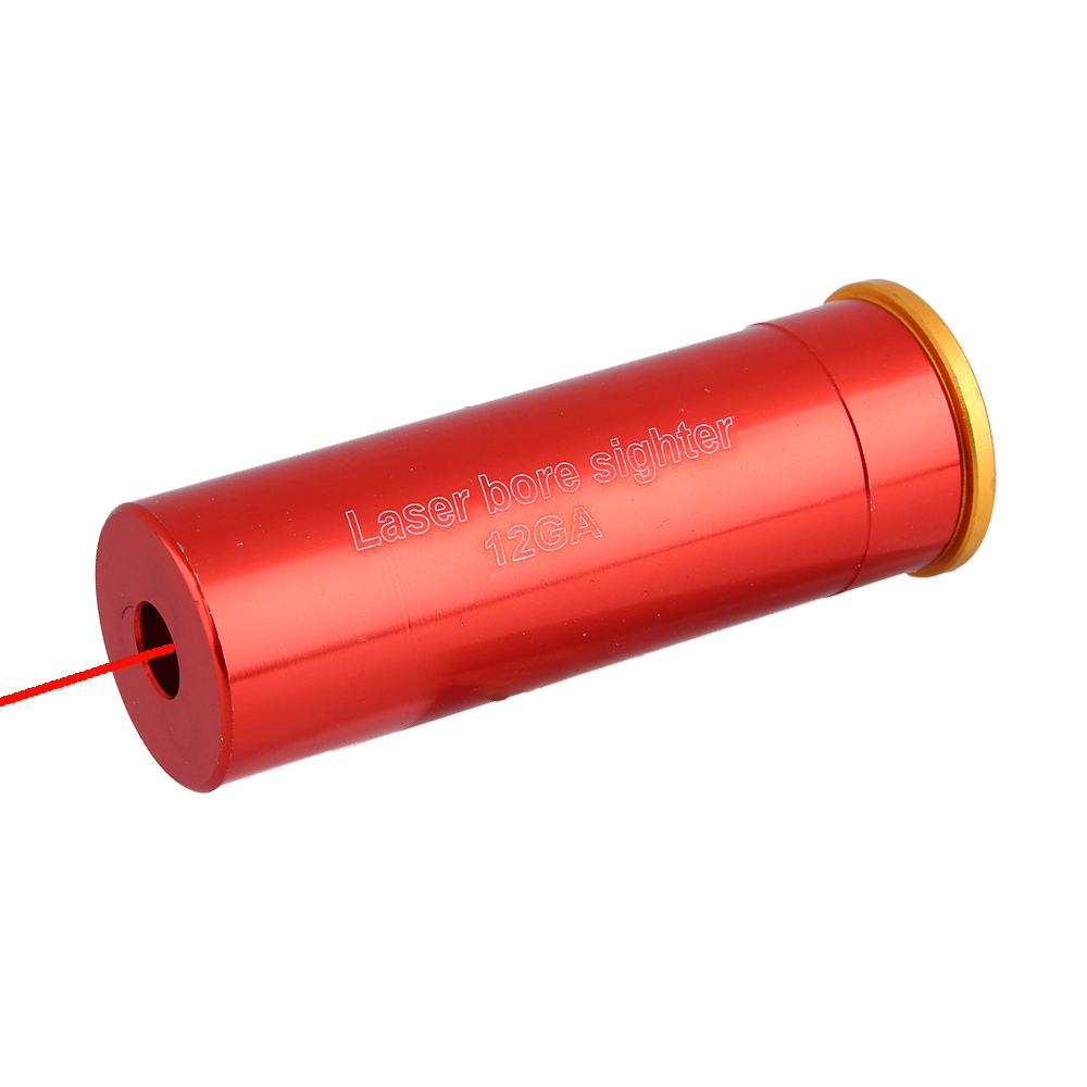 Tactical 12 GA Red Dot Laser Bore Sighter 12 GAUGE Cartridge Gun Boresighter Military Optics Scope Sighter For Hunting Shooting