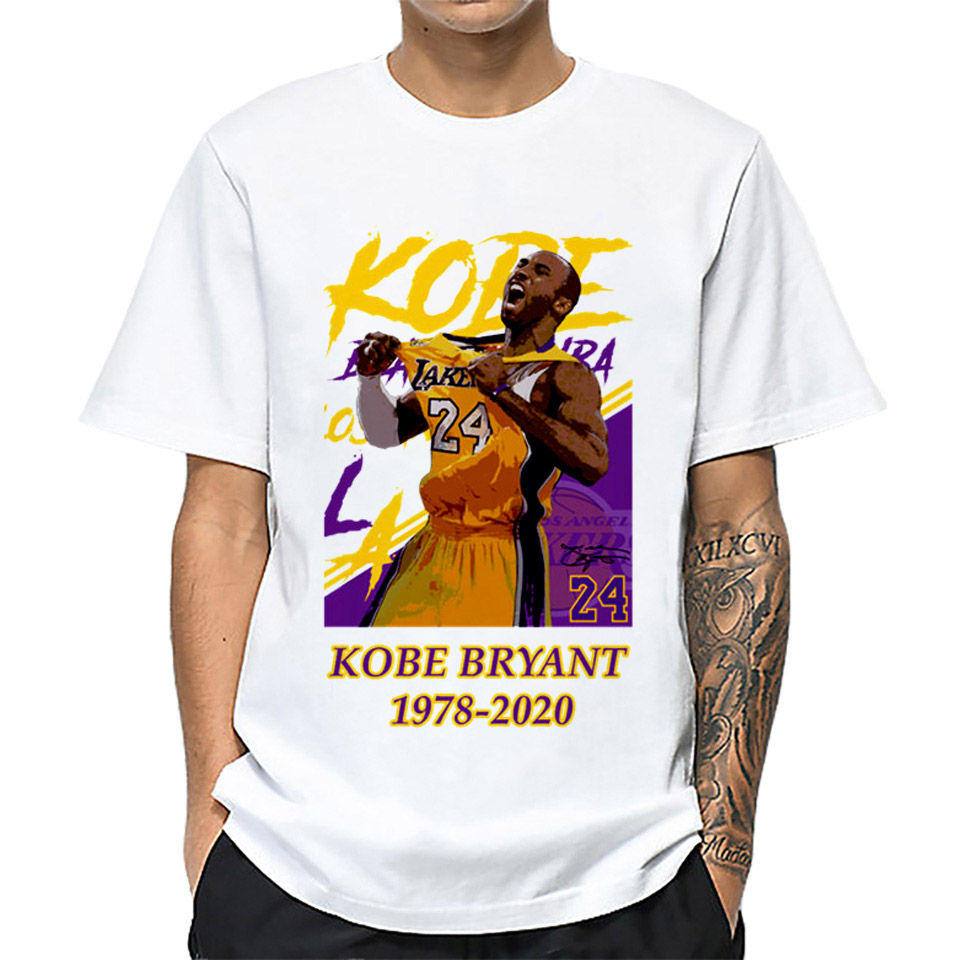 Kobe Bryant RIP 1978-2020 Print T-shirt For Men And Women 2020 Summer Short Sleeve Tops Tee Boy And Girl Clothes