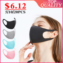 10 Pcs Stofdicht Mond Gezichtsmasker Vrouwen Mannen Moffel Gezicht Mond Maskers Anti Stofmasker Anti PM2.5 Kpop Beschermende Masker