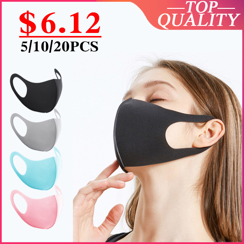 10PCS Dustproof Mouth Face Mask Women Men Muffle Face Mouth Masks Anti Dust Mask Anti PM2.5 KPOP  Protective Mask
