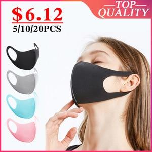 Image 1 - 10PCS Dustproof Mouth Face Mask Women Men Muffle Face Mouth Masks Anti Dust Mask Anti PM2.5 KPOP  protective mask