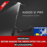 [EU 在庫] KUGOO S1 プロ折りたたみ電動大人のスクーター 350 ワット 30 キロ/H Lcd ディスプレイ e スクーターより良い m365 Dualtron PK Ninebot