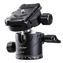 лучшая цена K&F Concept Metal Tripod Ball Head 360° Rotating Panoramic with 1/4 inch Quick Release Plate Bubble for Tripod Monopod Camera
