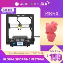 ANYCUBIC Impresora 3D con marco de Metal, máquina de impresión de alta precisión 3D, actualización de la serie I3 Mega S