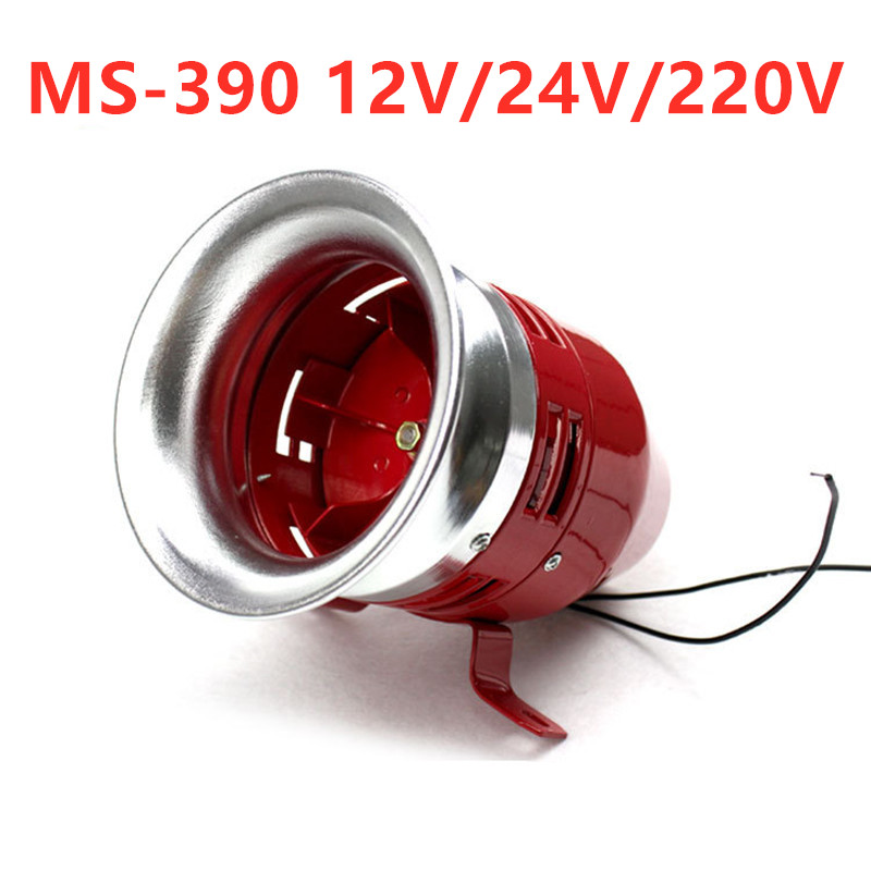 Heavy Duty Motor Siren MS-390 12V 24V 220V Automotive Air Raid Siren Horn Car Truck Motor Driven Alarm/small Motor Buzzer