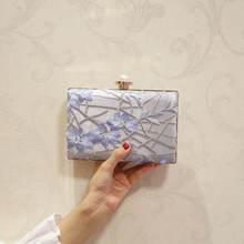 Новейшая популярная женская вечерняя сумка с цветочной вышивкой