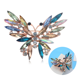 Rinhoo Natural Animals Brooch Pins Butterfly Brooches For Women Men Jewelry Gift Cute Elegant Fashion Accessories