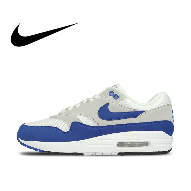 Original Authentic Nike AIR MAX 1 ANNIVERSARY Men's Running Shoes Sport Outdoor Sneakers Athletic Designer Footwear 908375-102